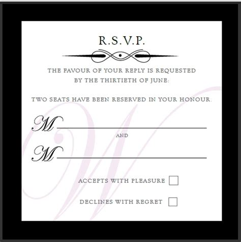 ideas for wedding rsvp cards wedding invitation rsvp wording theruntime