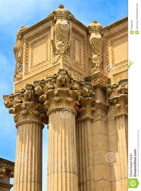 corinthian column palace  fine arts stock photo image