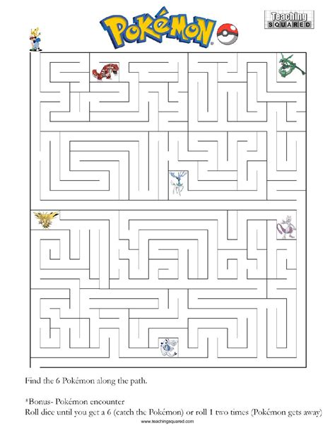 printable pokemon activity sheets pokemon maze images pokemon images