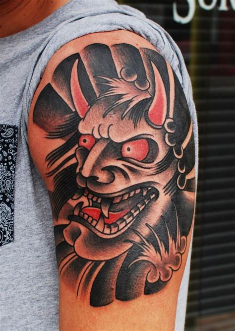 Hannya Mask Tattoo Traditional | 489 best images about hammersmith tattoo on pinterest