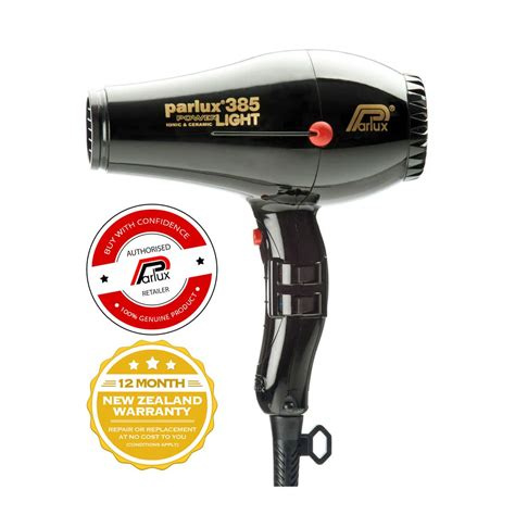 Hair Dryer Of parlux 385 powerlight hair dryer black the lounge