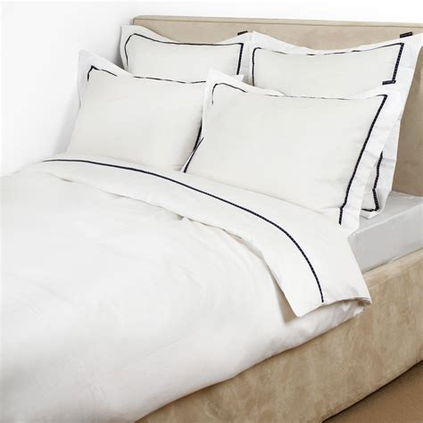white comforter with blue trim white duvet cover with blue trim sweetgalas