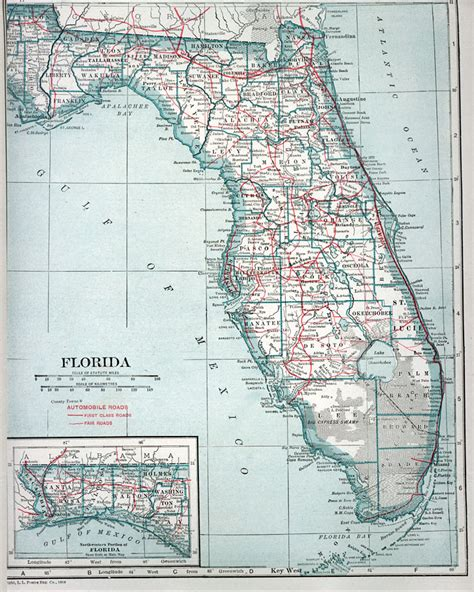 florida speed limit map automobile map of florida 1919