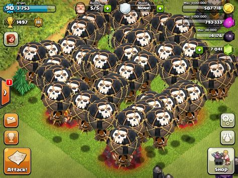 Balon Max Coc clash of clans 54 balloon attack