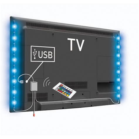 Le Led Usb lot de 2 barres lumineuses led usb 50 cm pour tv rgb avec