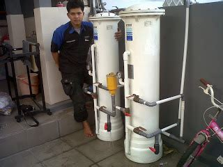 Filter Penyaring Air Irigasi Taman 3 4 Inch pemasangan 2 unit filter air di taman cikas hydro filter filter air berkualitas hydro water purifier