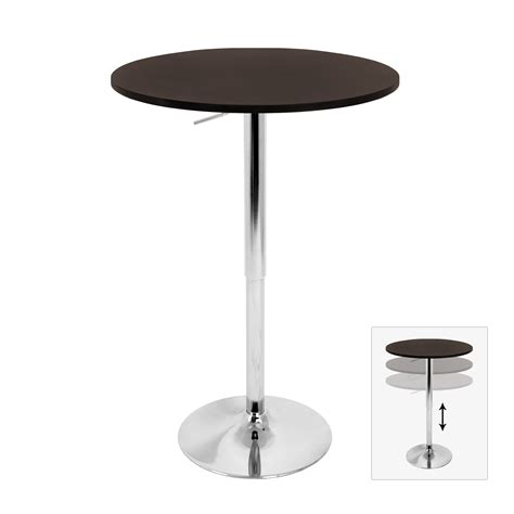 adjustable bar table w brown top