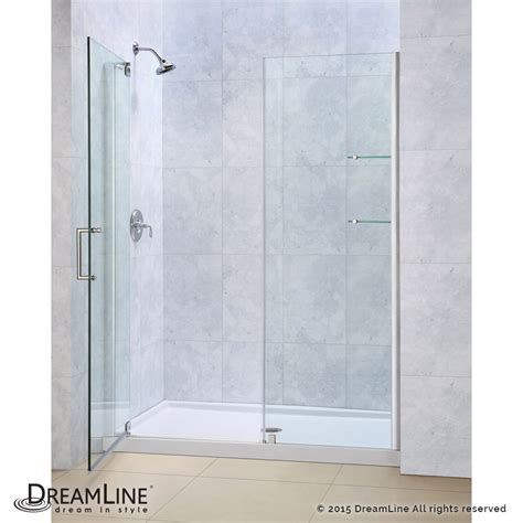 glass pivot bathtub doors dreamline showers elegance pivot shower door