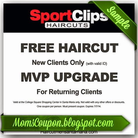 haircuts coupons printable get sport clips coupons 2015 25 off mvp free