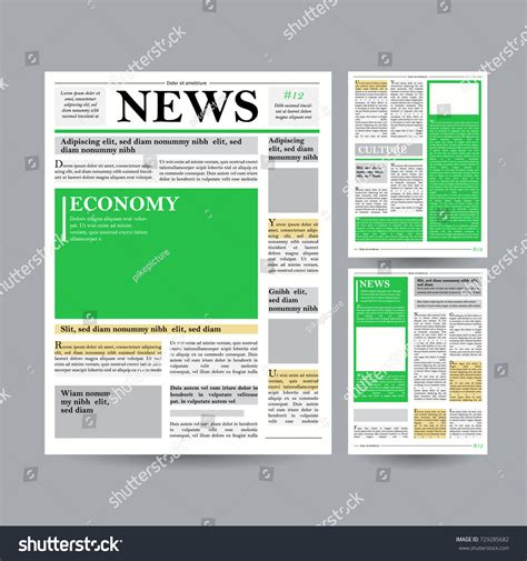 newspaper layout vector business paper templates sle blank newspaper ppt on