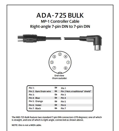 wiring diagram 7 pin midi cable midi to xlr cable pinout