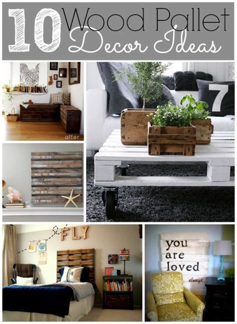 Pallet Decorating Ideas by 10 Wood Pallet Decor Ideas