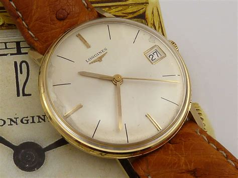 longines 18k gold c 1962 secondhand and vintage watches