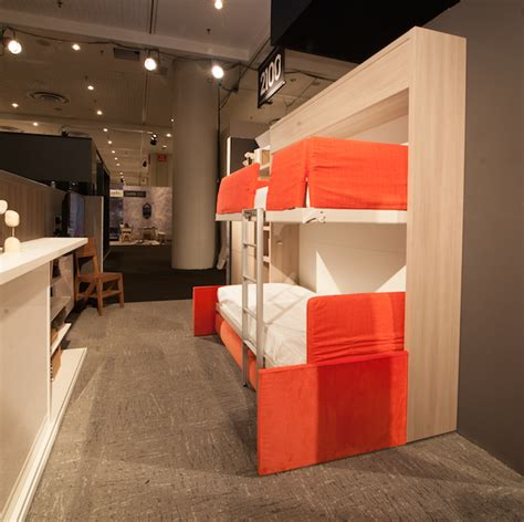 Folds Into Bunk Bed by Space Saving Ideas From Nycxdesign Week Based