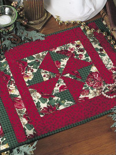 pattern christmas placemats quilting holiday seasonal patterns christmas