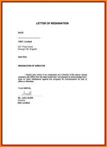 Exles Of Resignation Letters For Personal Reasons by 7 Resignation Letter Sle Doc Personal Reason Handy Resume