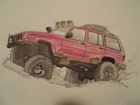jeep drawing how to draw jeep cherokee