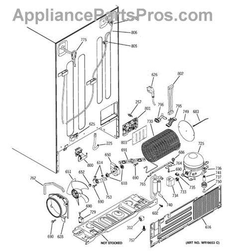 ge dc capacitors ge wr23x10494 harness dc capacitor appliancepartspros