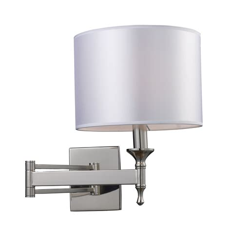 swing arm sconce bedroom elk lighting 10160 1 pembroke swing arm wall sconce