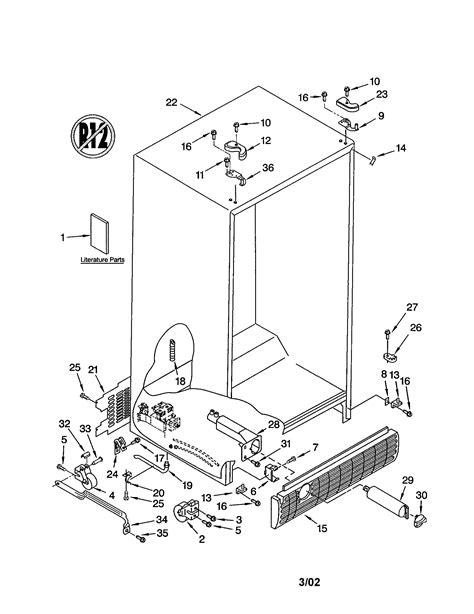diagram sears kenmore refrigerator parts diagram