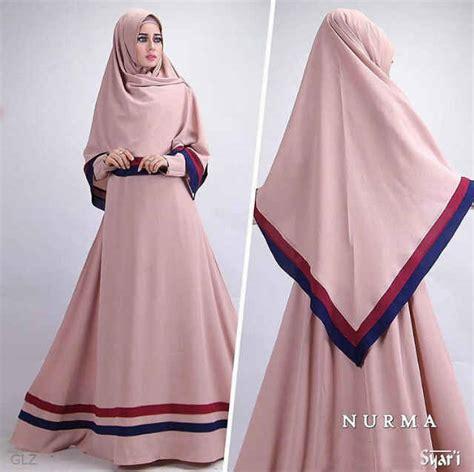 Gamis Syari Cantik Baju Gamis Polos Cantik B091 Nurma Syar I Grosir Busana