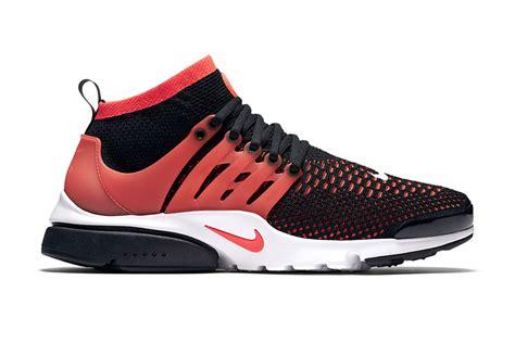 Nike Air Presto Ultra Flyknit Black Bright Crimson nike air presto ultra flyknit in bright crimson hypebeast