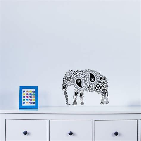 vinyl wall stickers uk paisley elephant vinyl wall sticker vinyl revolution
