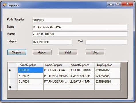 membuat form login vb net 2010 membuat form supplier pada visual basic 2010 pintar vb