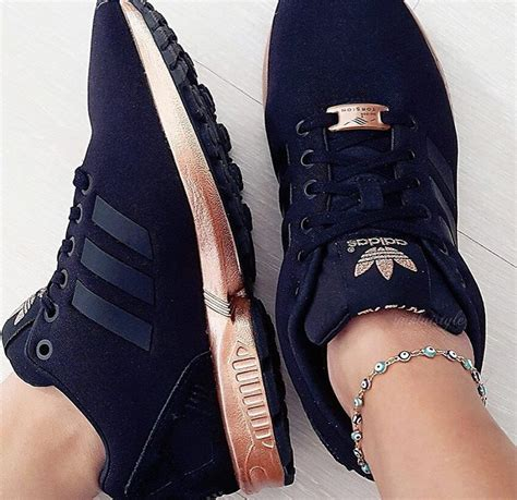 black and gold adidas sneakers adidas zx flux trainers black and copper gold
