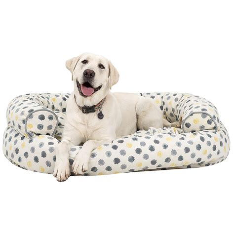 canvas dog bed cynthia rowley dot canvas oval couch bolster dog bed