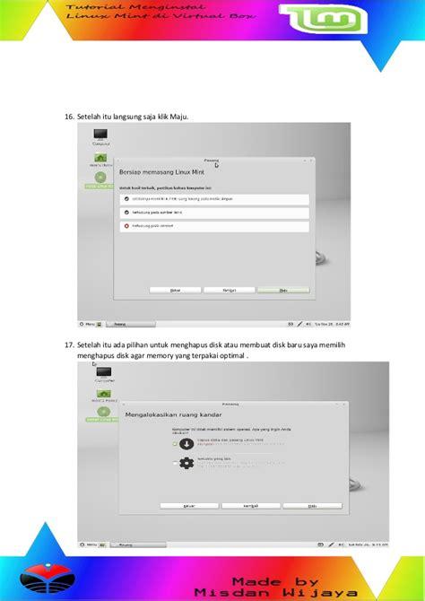 tutorial virtualbox linux mint tutorial linux mint di virtual box by misdan wijaya