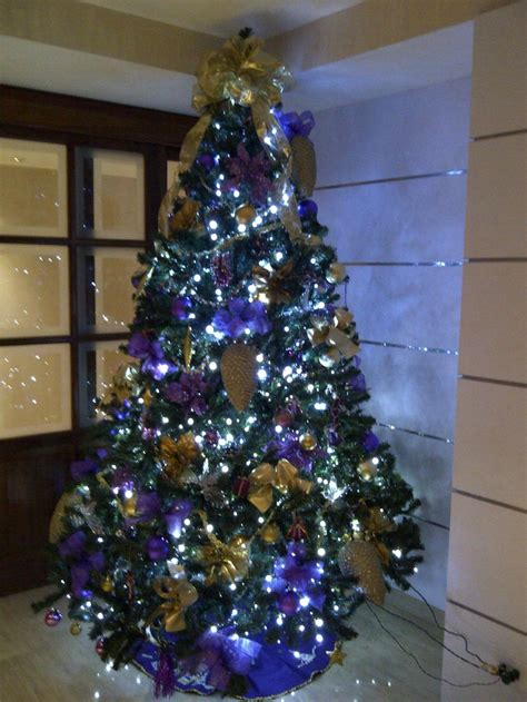 arbol de navidad morado holiday decoration pinterest