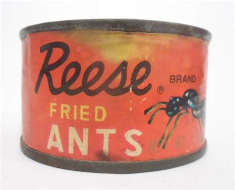1950 s food vintage tin reese finer foods inc fried ants made in japan