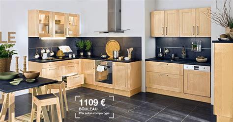 cuisine bouleau lapeyre cuisine origine en bouleau massif prix 1109