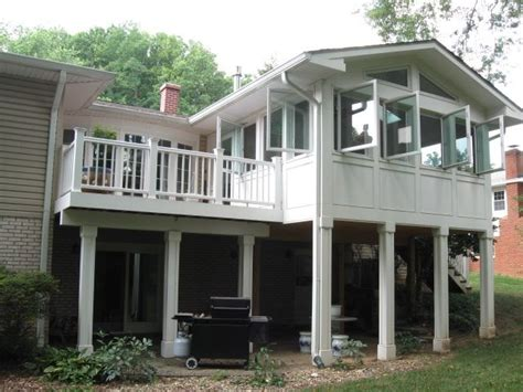 four seasons patio this 4 season room and custom deck by archadeck of