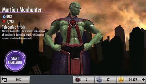 injustice gods among us new challenge injustice gods among us mobile martian manhunter challenge