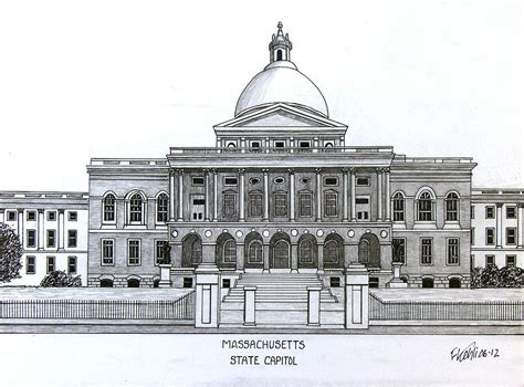 House Plan Apps massachusetts state capitol drawing by frederic kohli