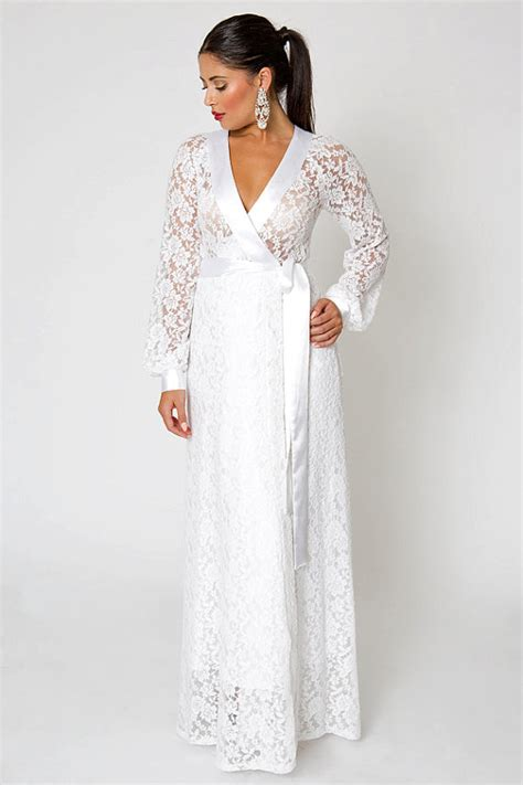 Wrap Style Wedding Dresses by Items Similar To White Ivory Simple Lace Wedding Gown