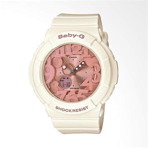 jual casio baby g bga 131 7b2dr jam tangan wanita white beige harga kualitas