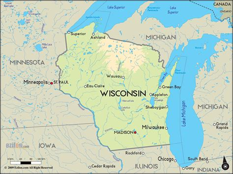 map usa wisconsin map of wisconsin usa