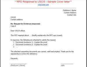 rfe response cover letter i 129f request for evidence rfe 171 visa tutor