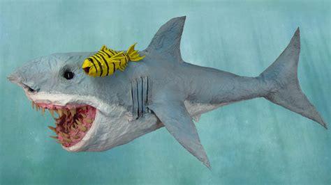 How To Make A Paper Mache Shark - paper mache great bite shark gourmet paper mache