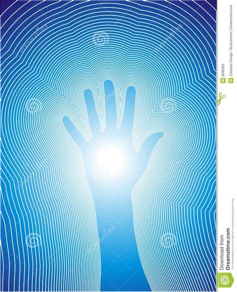 healing hand  reiki lines stock vector image