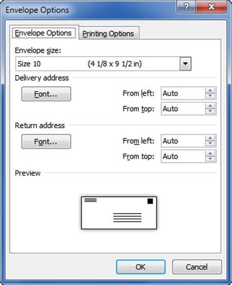 Printed Size M Part 1 printing envelopes and labels part 1 envelopes