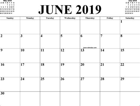 Calendar 2019 June The June 2019 Calendar 1 Can Help You Make A Professional