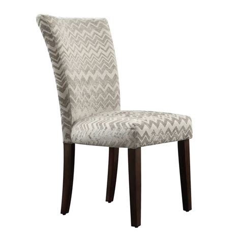 Chevron Dining Chair Inspire Q Catherine Grey Chevron Parsons Dining Chair Set Of 2
