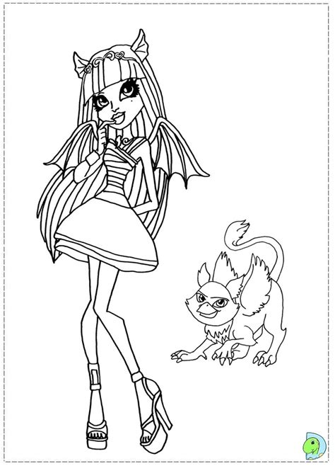monster dolls colouring pages page 3