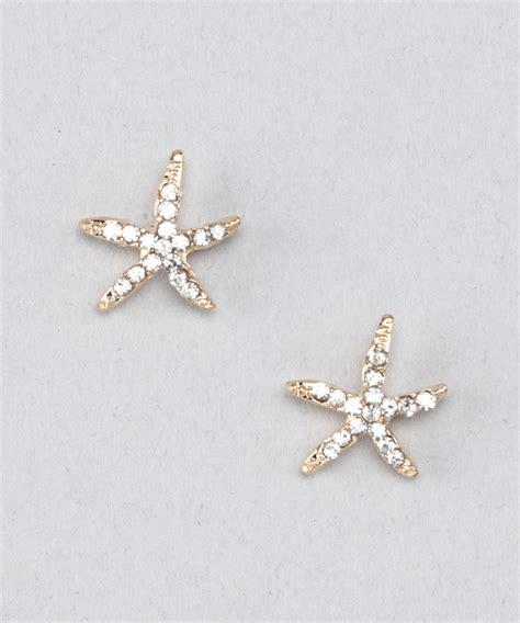 top it gold starfish earrings