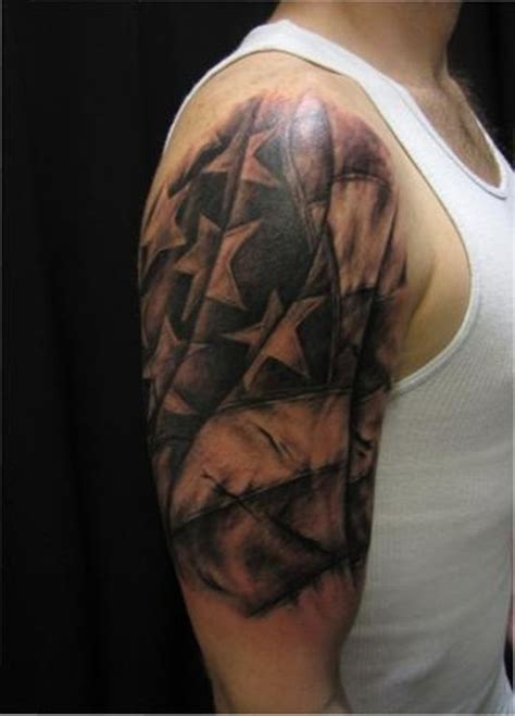 american quarter sleeve tattoo 25 american flag tattoo ideas for true patriots american