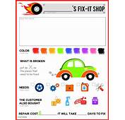 Mechanic Pretend Play Sheet FREE PRINTABLE